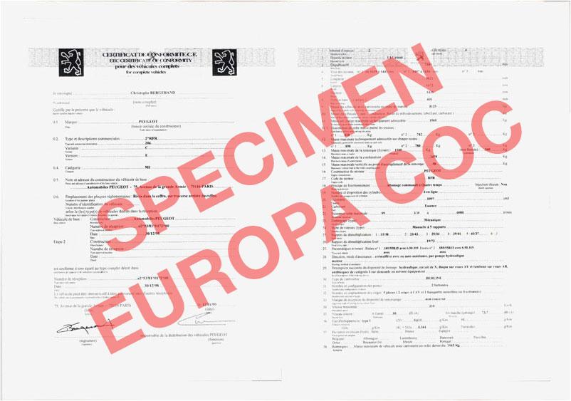 demande de certificat de conformit europ en peugeot cocautomoto peugeot france paris. Black Bedroom Furniture Sets. Home Design Ideas