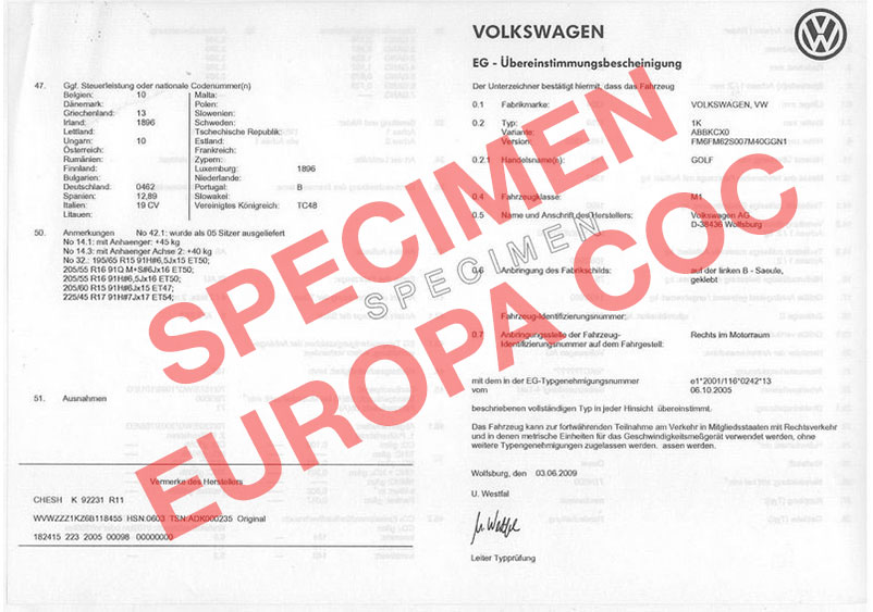 certificat de conformit europ en volkswagen coc commandez votre certificat de conformit c o. Black Bedroom Furniture Sets. Home Design Ideas